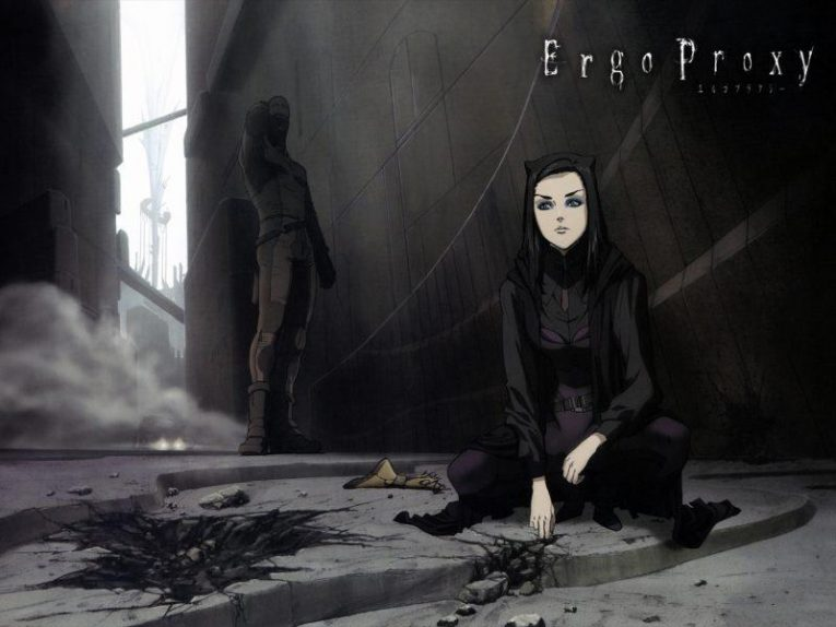 Re-l Mayer in a dark alley from Ergo Proxy