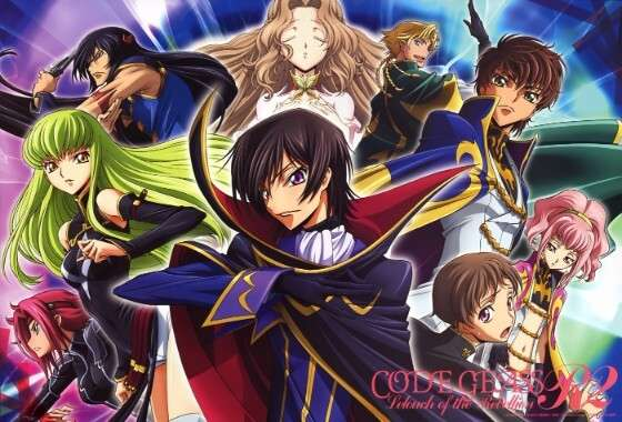 Code Geass cover with multiple characters