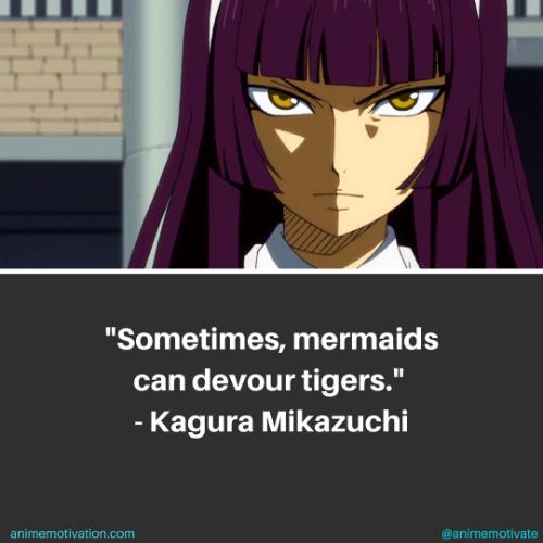 Sometimes, mermaids can devour tigers. - Kagura Mikazuchi