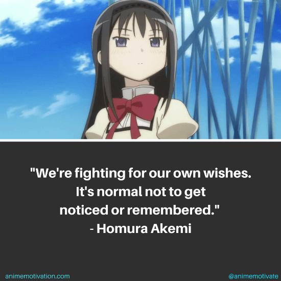 Homura Akemi Quotes