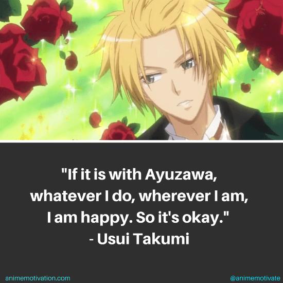 Usui Takumi Quotes