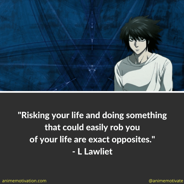 Risking your life and doing something that could easily rob you of your life are exact opposites.