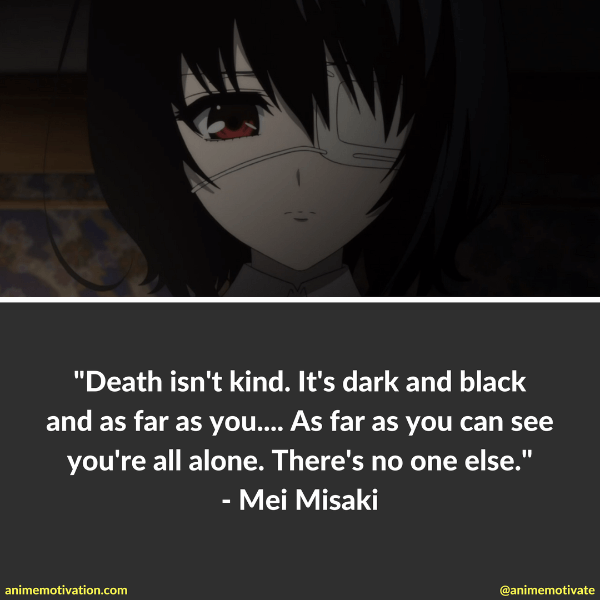 60 Dark Anime Quotes About Death That Will Motivate You Awesome Quotes On Death