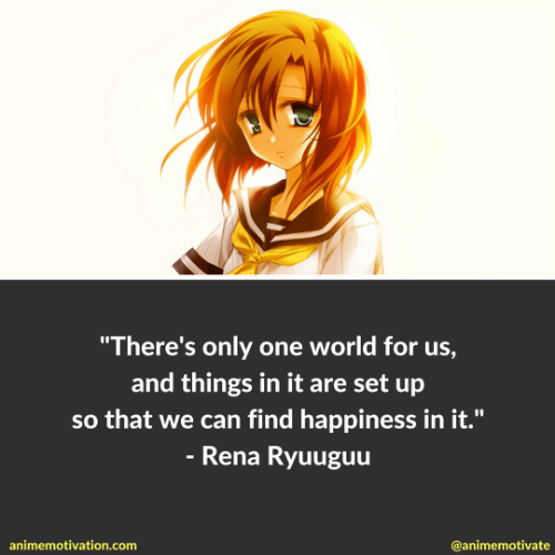 4 Rena Ryuugu Quotes That Are Worth Thinking About