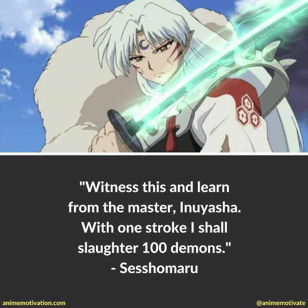 9 Interesting Sesshomaru Quotes From Inuyasha Anime