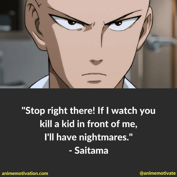 9 Awesome Saitama Quotes From One Punch Man