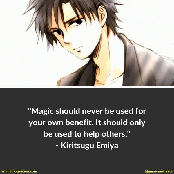 The Best Kiritsugu Emiya Quotes From Fate Anime Series