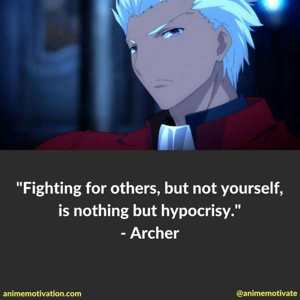 The Best Archer Quotes From Fate Stay Night Anime