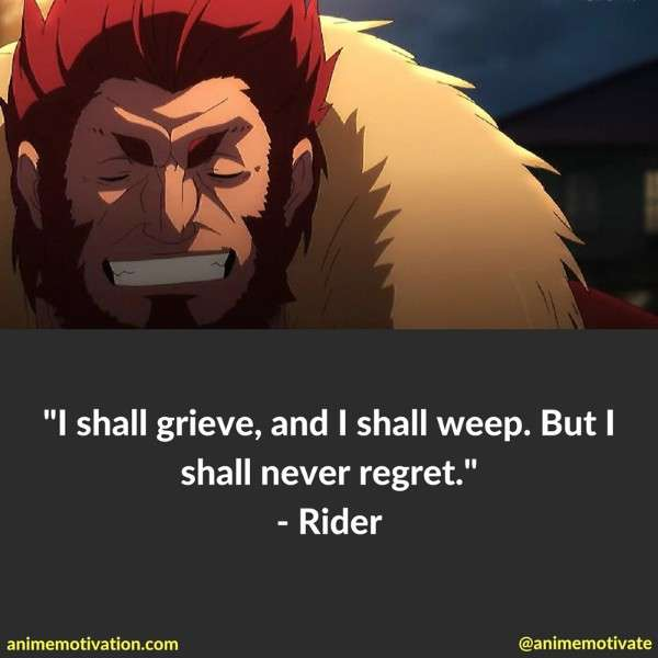 11 Surprisingly Good Rider Quotes From Fate Zero Anime