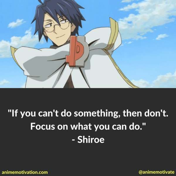 Shiroe Quotes