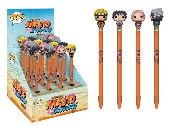 Classic Naruto Pop Homewares Pens Toppers Display 2