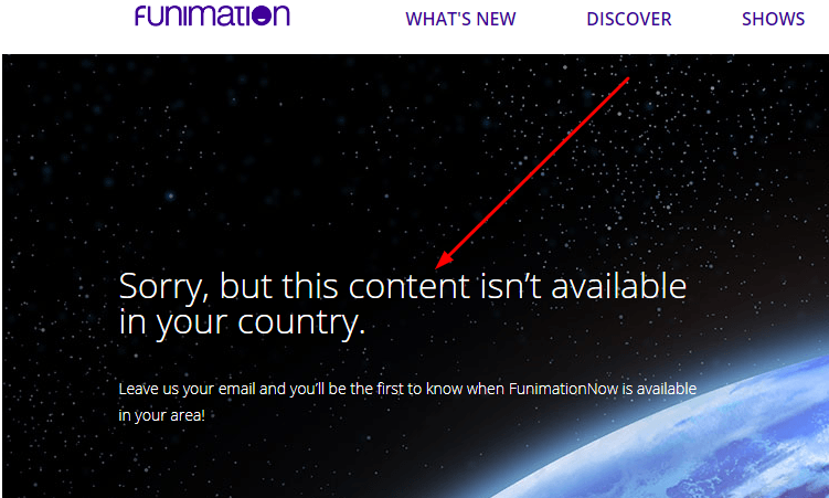 Sorry Message Funimation