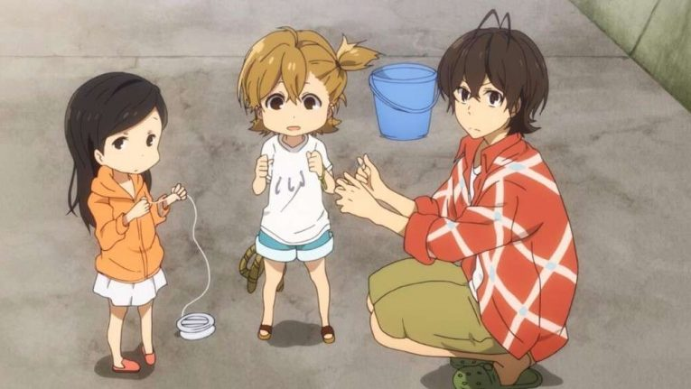 Barakamon Miwa Hina And Naru