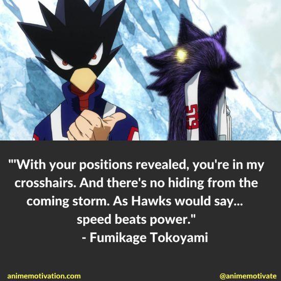 Fumikage Tokoyami quotes mha