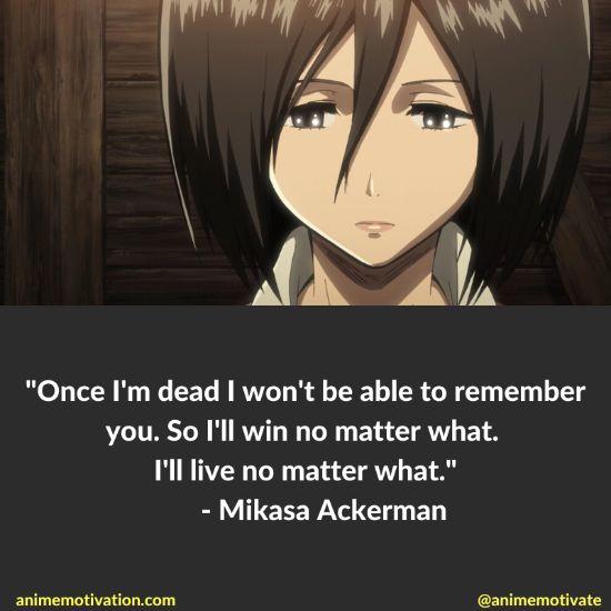 Mikasa Ackerman quotes 7
