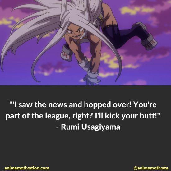 Rumi Usagiyama quotes mha 2