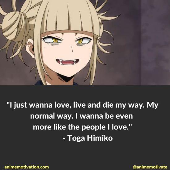 Toga Himiko quotes mha 2