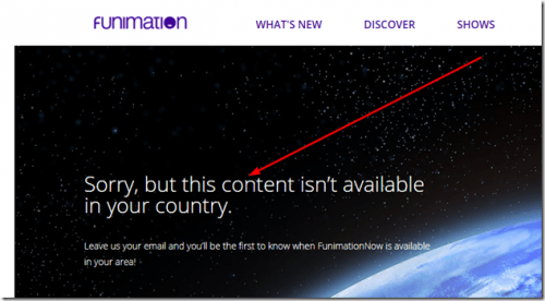 Funimation Screenshot Not Available In Your Country
