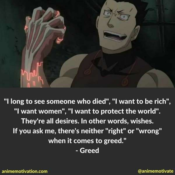 60 Fullmetal Alchemist Quotes To Add Meaning To Your Life Extraordinary Greed Quotes