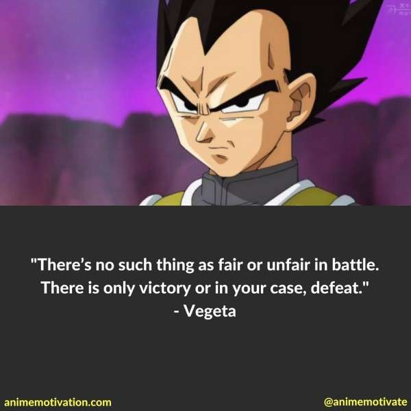 Vegeta Inspirational Quotes