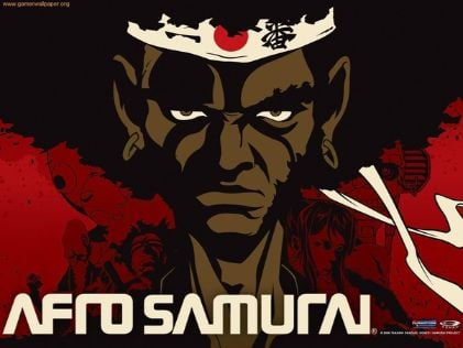 afro samurai black character