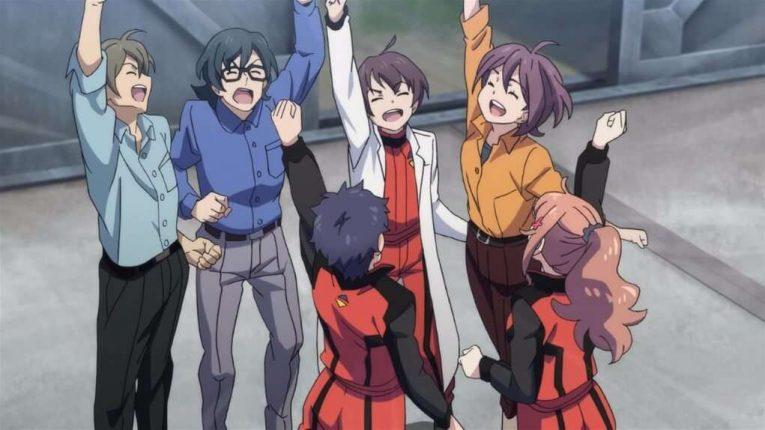Classroom Crisis 12 Kojiro Sakugo Aki Subaru Makoto Mizuki Cheering Happy