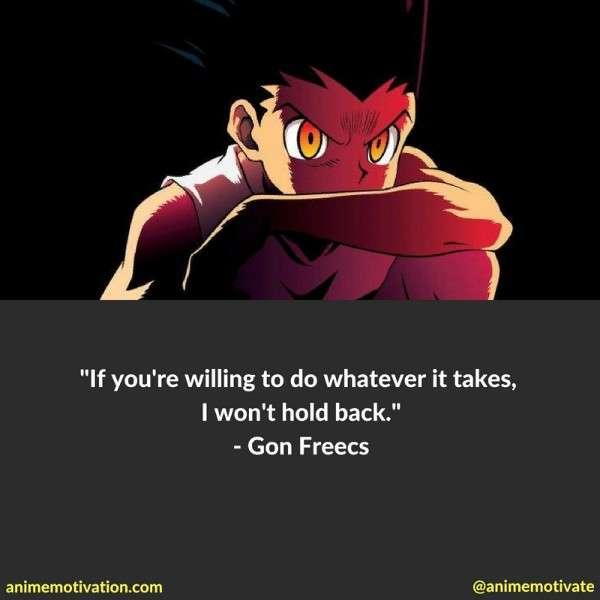 Gon Freecs Quotes Hxh