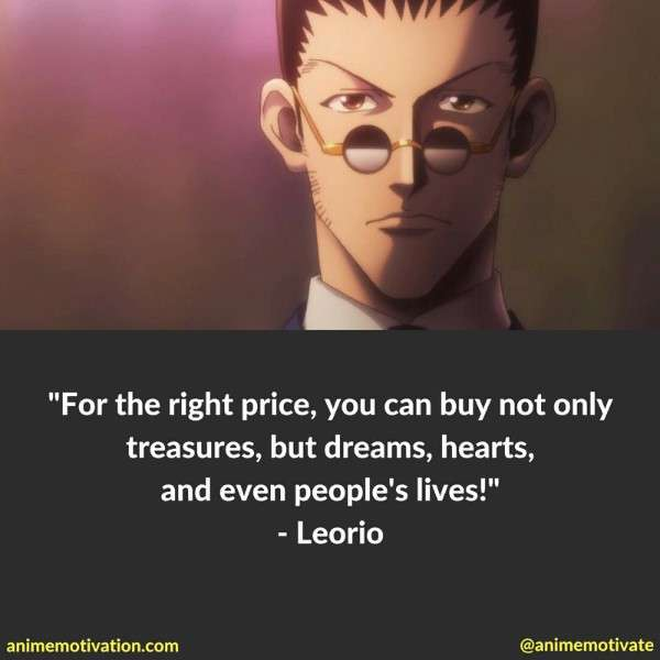 Leorio Paradinight Quotes 2