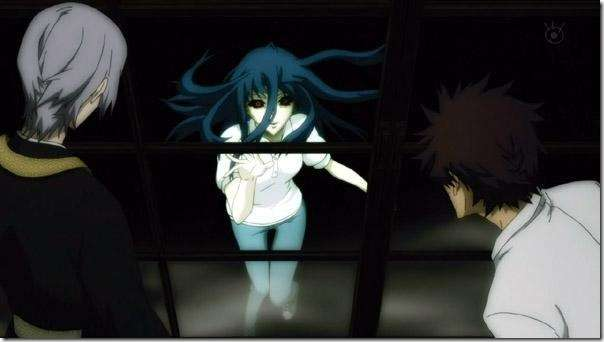 picture of shiki anime characters and blue haired vampire