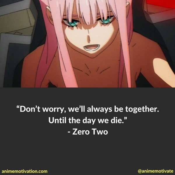 Quote image of Zero Two from Darling In The Franxx