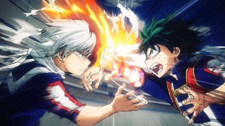 My Hero Academia Anime Izuku Midoriya And Shoto Todoroki