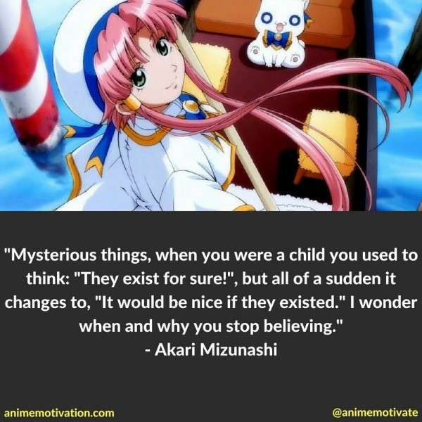 Aria The Animation Akari Mizunashi Quote