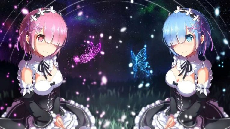 Re Zero Anime Wallpaper Of Rem And Ram