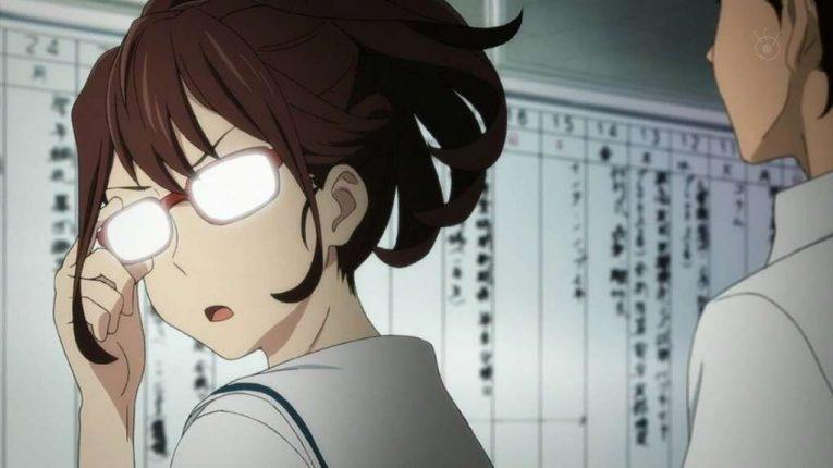 akiho senomiya with glasses on