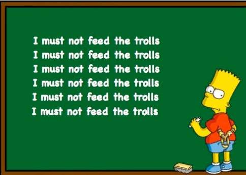 I Must Not Feed The Trolls Bart Simpson Picture