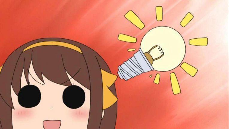 Haruhi Suzumiya Light Bulb Moment