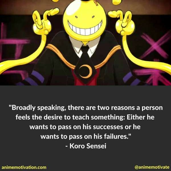 Koro Sensei Quotes 2
