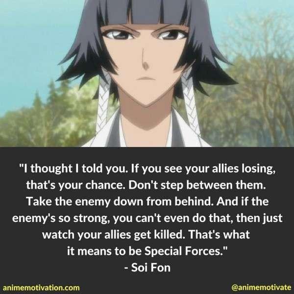 Soi Fon Quotes 2