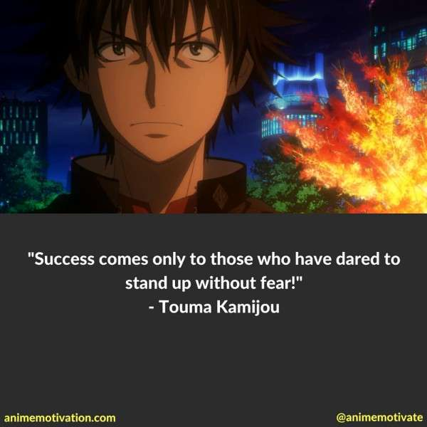 Touma Quotes Railgun 2