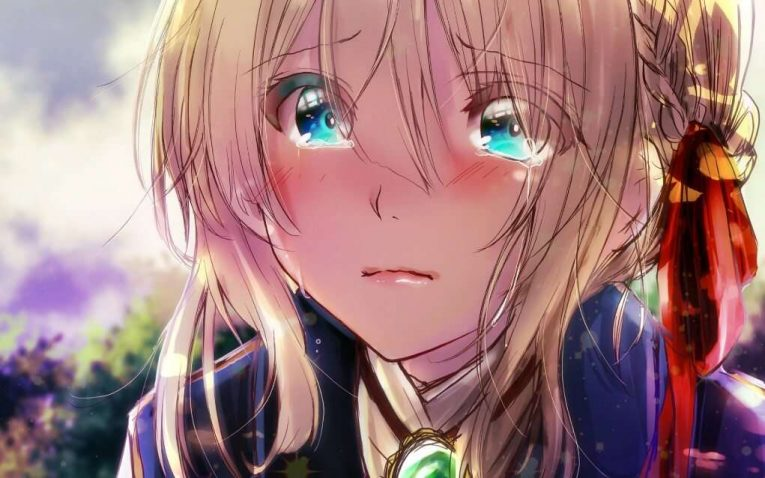 Violet Evergarden Crying Wallpaper