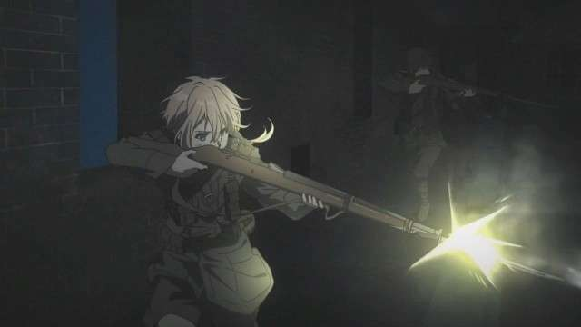 Violet Evergarden Shooting Her Rifle In Battle