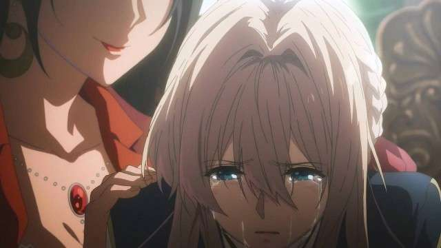 Violet Evergarden Crying