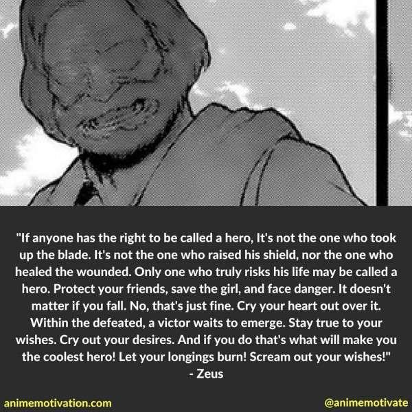 Zeus Quotes Danmachi
