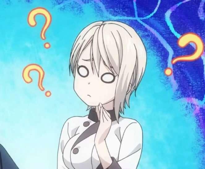 Alice Nakiri Confused Face Food Wars Anime