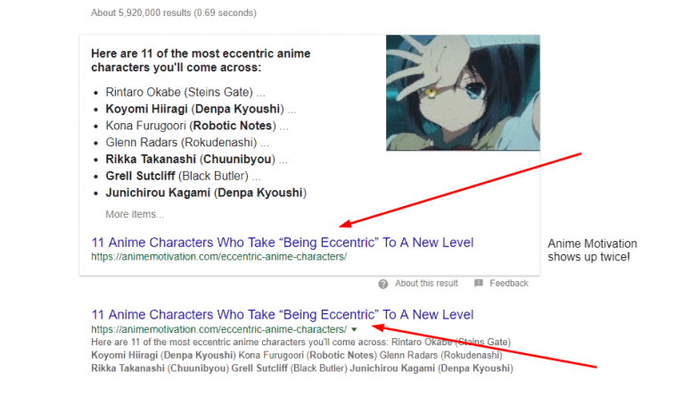 Anime Motivation Google Screenshot