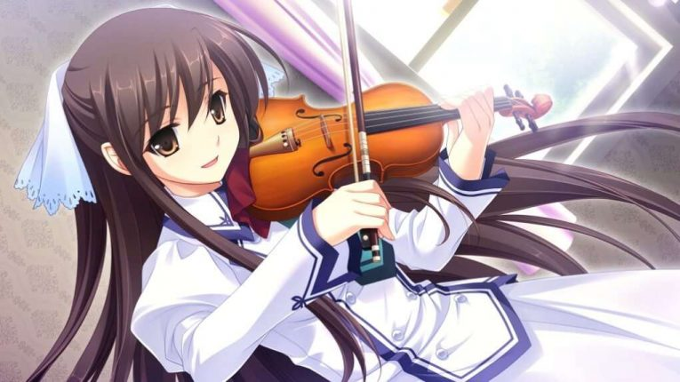 Michiru Playing Violin Anime Wallpaper