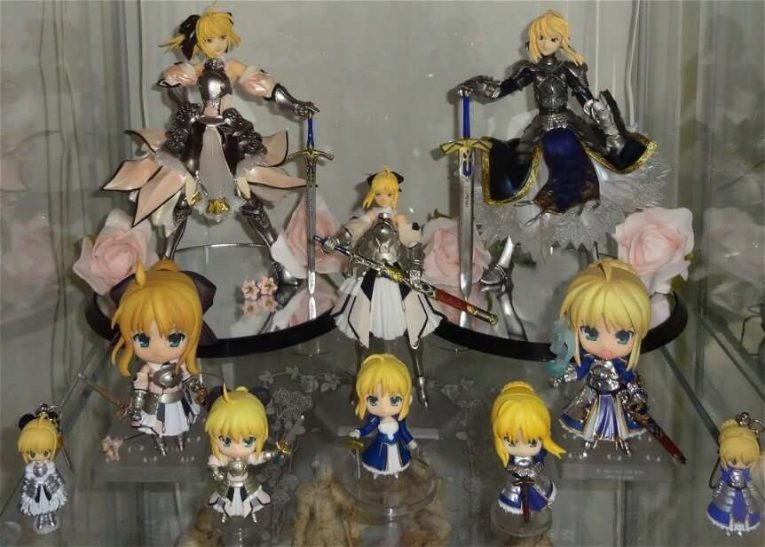 Saber Figure Collection Display