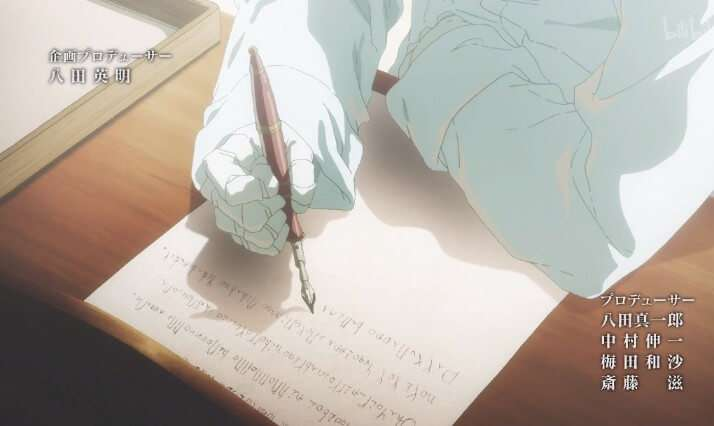 Violet Evergarden Writing