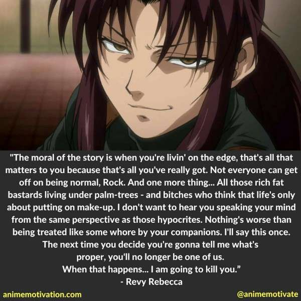 The Most Powerful Anime Quotes From Black Lagoon You Need To See 6