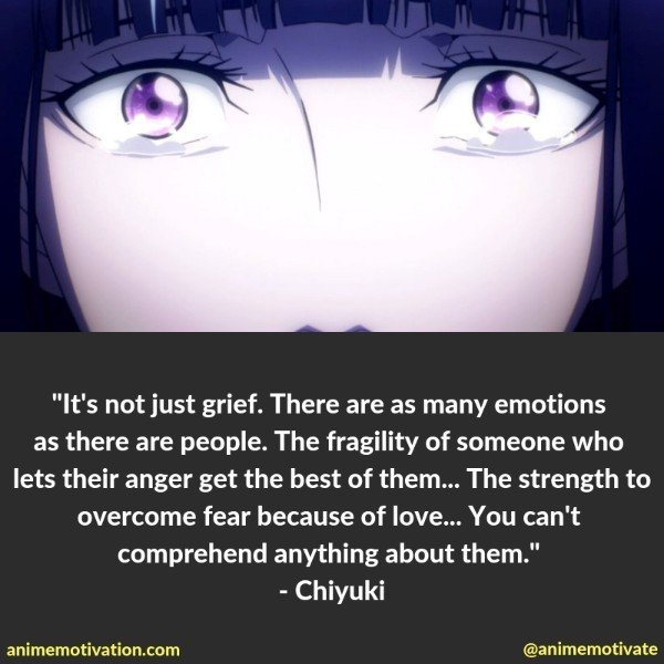 Chiyuki quotes death parade
